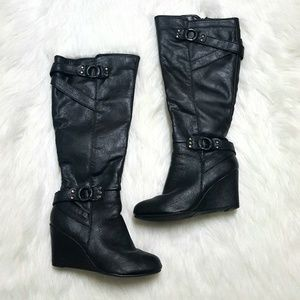 Sbicca Knee High Wedge Boots